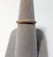 10k YELLOW GOLD 15 ROUND DIAMONDS WEDDING ANNIVERSARY RING  .11 tw ~ NEW ~ USA