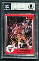 Dave Corzine #119 signed autograph auto 1985-86 Star Basketball Card BAS Slabbed