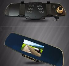 "Rearview Mirror Car Dvr 5"" Lcd Hd Motion Detection Looping Recorder Night Vision"