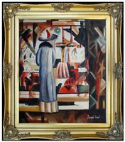 Framed Hand Painted Oil Painting Repro August Macke Bright Shop 20x24in