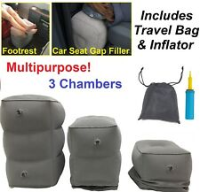 Comfortable Inflatable Pouf Footstool Leg Feet Rest Footrest Car Seat Gap Filler