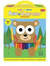 Color and Draw Bear in Underwear Activity Kit : Includes Activity Book, Crayons,