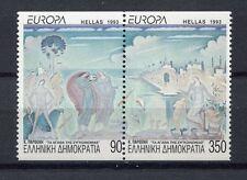 s2456) GREECE 1993 MNH** Nuovi** Europa, modern art 2v from booklet