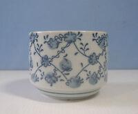 Japanese porcelain shohin bonsai pot floral motif made in Japan 2 c