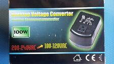 230 - 110V Step-Down Voltage Converter 100W Desktop