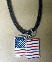 Halskette Necklace USA Fahne Flag Banner Stars and Stripes Anhänger