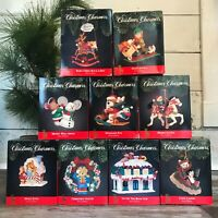 Santa's Best Collectable Lot of 9 Various 1991 Christmas Charmers Ornaments Box