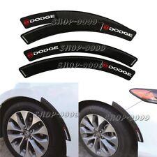 4 x Dodge C.F+Rubber Fender Arch Trim Sticker Protector Car Wheel Eyebrow Strip