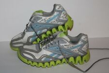 Reebok Zigsonic Running Shoes, #V51083, Wht/Grey/Lime/Blue, Women's US Size 9