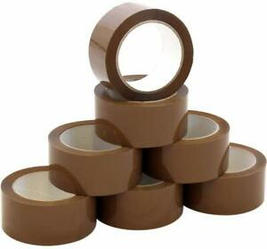 10 Strong Brown Buff Parcel Packaging Packing Tape 48MM X 66M Box Sealing Rolls
