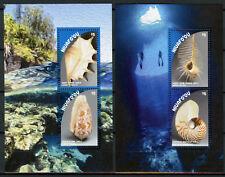 Niuafo'ou 2018 MNH Seashells Conch Cone Nautilus Shell 2x 2v M/S Marine Stamps
