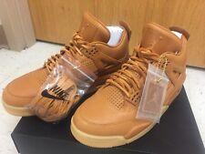 Nike Air Jordan 4 IV Retro Premium Sz 9 Wheat Ginger Gum Yellow 819139-205...