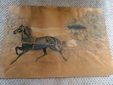 QUEBEC folk art 1800s NAÏVE primitive PENCIL WATERCOLOUR drawing painting paper