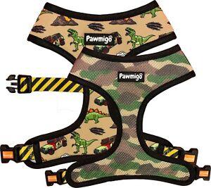 Pawmigo Jurassic Bark Mesh Back Clip Dog Harness By Pawmigo - Extra Large