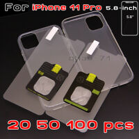 For iPhone 11 Pro Full Protector Tempered Glass Screen Saver+Clear Soft Case Lot