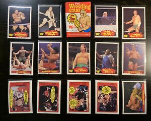 "1985 O-Pee-Chee OPC Pro Wrestling WWF 14 card lot ""Pack Fresh"" NM+"