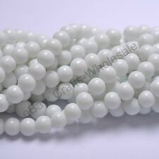 Lots Top Quality Czech Glass Pearl Round Beads Choose - 4MM, 6MM, 8MM & 10MM
