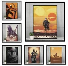 Star Wars The Mandalorian TV Poster Baby Yoda NEW print design Size - A4 A3 A2