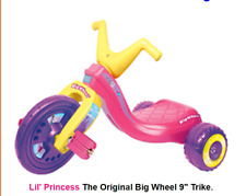 "Trike  Lil' Princess The Original Big Wheel 9"" Trike. Tricycle"