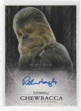 Topps Star Wars The Force Awakens Peter Mayhew Chewbacca Autograph 5/25 Purple