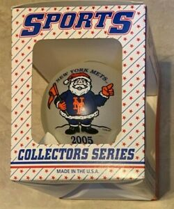 """2005 New York Mets Christmas 3.25"""" Ball Ornament NEW in box Topperscott"""
