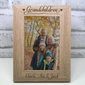 Personalised Grandchildren Photo Frame Christmas Gift Grandma Grandad
