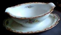 NORITAKE  OCCUPIED JAPAN   gravy boat with attached underplate