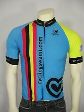 PISSEI CYCLINGSWAMI FULL ZIP SHORT SLEEVE BICYCLE CYCLING JERSEY TOP MEN'S 4 = L