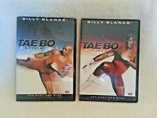 2 Billy Blanks Tae Bo DVDs. Tae Bo Cardio and Tae Bo Flex.