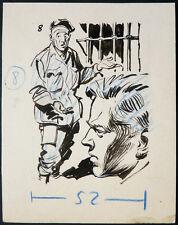 Dessin original de Noël GLOESNER (1917-1995) illustration 8 pour Frimousse