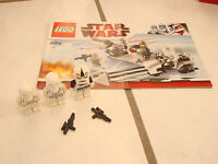 Lego #8084 Star Wars Set Snowtrooper Battle Pack book and 3 figures only