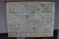 Schulwandkarte Rollkarte Lehrtafel Landkreis Coburg 1:25000 geographisch 1970er