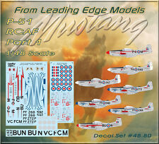 1/48 RCAF P-51 Mustangs Part 1 Western Squadrons decal set Leading Edge Models