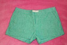 JOIE Merci Linen Shorts, Green,Size 6