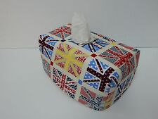 Cute Whimzie Union Jack Tissue Box Cover With Circle Opening - Lovely Gift