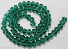 98PCS 4x6mm Dark Green Crystal Loose Bead. Free Shipping  A.208