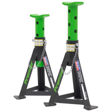 Sealey AS3G Axle Stands (pair) 3tonne Capacity per Stand Green Post