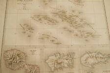 L'OCEANIE TAHITI NOUKA HIVA HIVA HOA  CARTE ANCIENNE LORSIGNOL  1877 R1878
