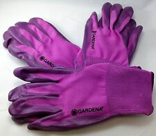 3 pk Gardena Nitrile Dipped Polyester Gardening Gloves - Purple