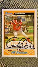 Ricky Oropesa Signed 2007 Bowman Aflac All American Baseball Card