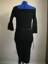 LIPSY LONDON KNITWEAR DRESS BLACK BELT SIZE 14 BNWT LONG SLEEVES RRP 35£