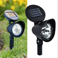 Adjustable Solar Spot Light 3 LED Landscape Garden Green Lawn Path Lamp Outdoor