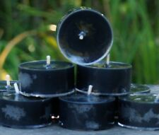 10pk 120hr/pack BLACK GARDENIAS Gothic Triple Scented ECO SOY TEA LIGHT CANDLES