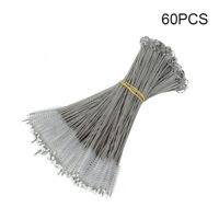 60pcs Stainless Steel Nylon Straw Cleaners Cleaning Brush Drinking Pipe Cleaners