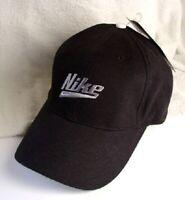 NIKE SWOOSH Black Cotton Hat Ball Cap Mens Size OSFA NEW NWT #572743