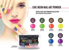 Mia Secret Nail Art Acrylic Professional Powder 6 Colors Set - CHIC NEON