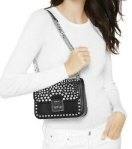 NEW Auth Michael Kors Jenkins Stud Sloan Editor Med. Chain Leather Bag USD$478💖