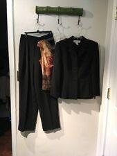 Jones New York Lined Pants Black Suit Size 8  & FREE Top