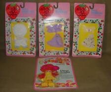 VINTAGE LOT of 4 1982 Strawberry Shortcake JELLY BEAN DOLL FASHIONS OUTFITS MOC