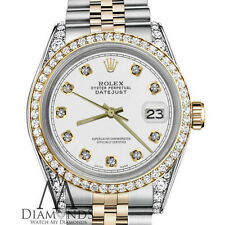 Ladies 31mm Rolex 18K & SS Datejust White Color Diamond Accent Dial Watch